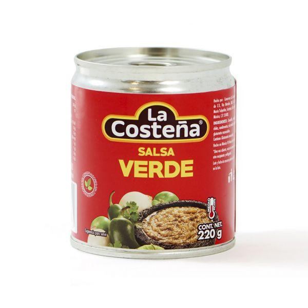 La Costeña Salsa Mexicana Verde en lata, 220 g