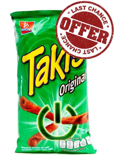 TAKIS Original (MHD:03.07.19), Mexikanische Chips, 56 g B-Ware