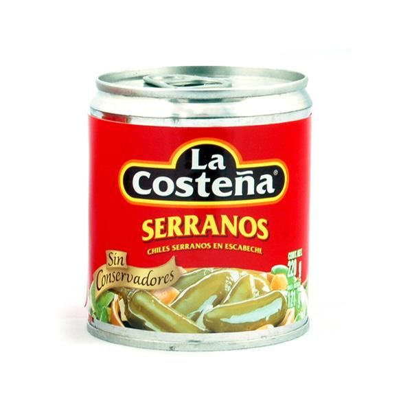 La Costeña Chile Serrano (entero), 220 g