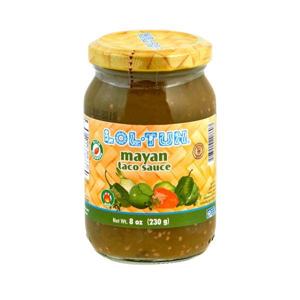 Lol-Tun Grüne Salsa Maya aus Serranochili und Habaneros, 230 g