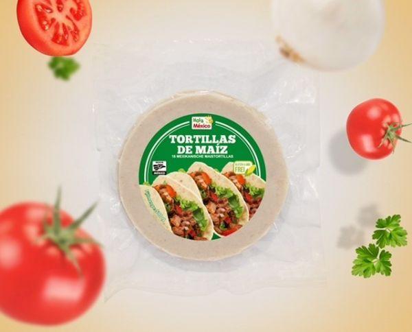 Tortillas de Maíz blanco, Ø 14 cm, larga vida de anaquel