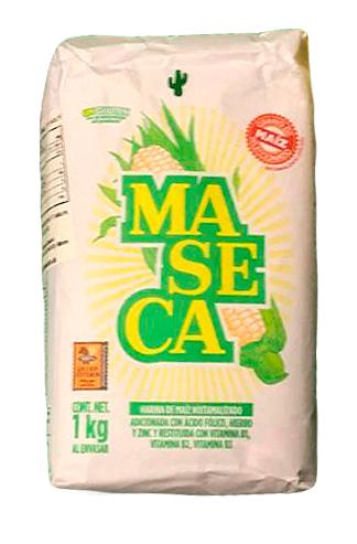 MASECA harina blanca nixtamalizada para tortillas, 1 kg