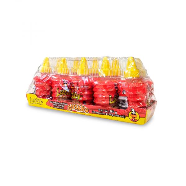 Mexikanische Süßigkeit Lucas - Gusano Chamoy, 360 g