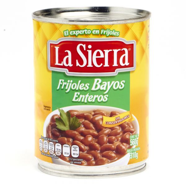 Frijoles Bayos Enteros, La Sierra, 560 g