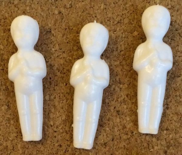 Figuren für Rosca de Reyes (Muñeco, Niño Dios), 3er-Set