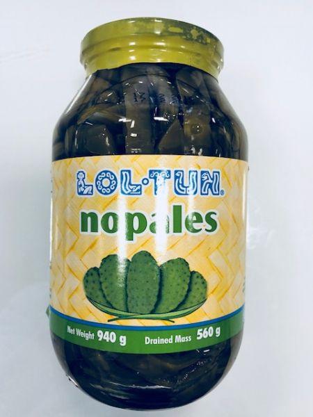 Kaktus-Blätter (Nopales), Lol-Tun in Streifen, 940 g