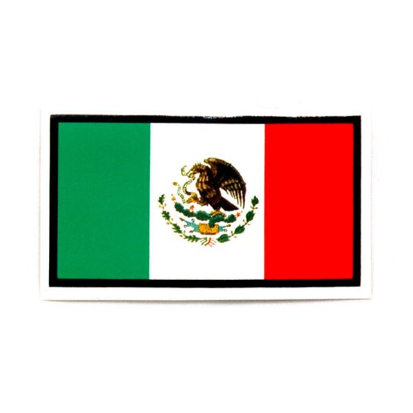 Calcomanía rectangular de la Bandera Mexicana