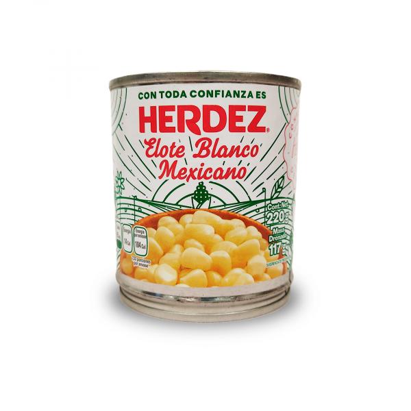 Mais Blanco para ESQUITES (Elote Blanco) Herdez, 220 g
