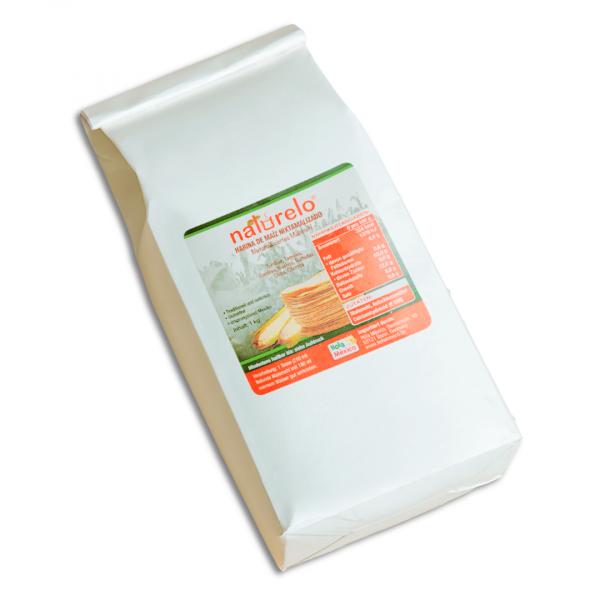 Naturelo Maismehl für Tortillas (nixtamalisiert), Masa Harina 1 kg