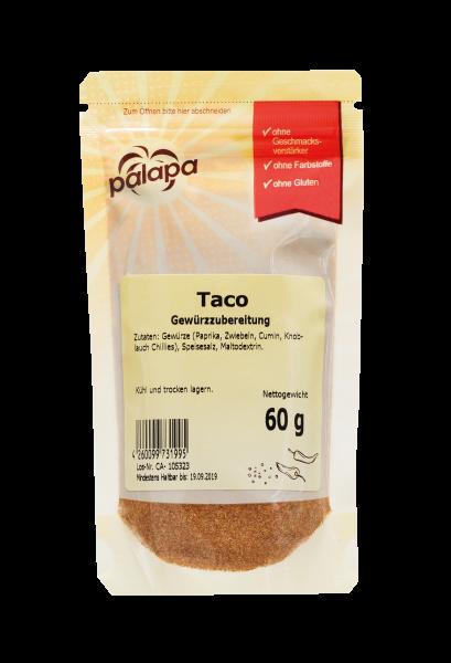 Taco Gewürzmischung für alle Arten von Tacos, 60 g