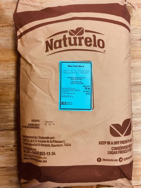Naturelo Blaues Maismehl Sack 20 kg (aus blauem Mais), nixtamalisiert