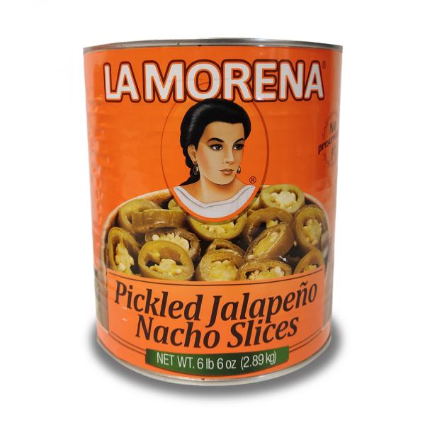 La Morena Jalapeños verdes en Rebanadas para Nachos, 2,89 kg